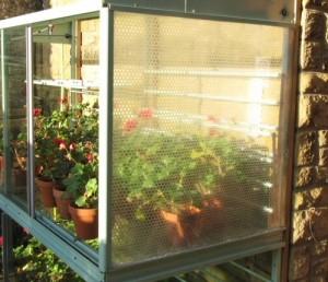 mini greenhouse with insulated end