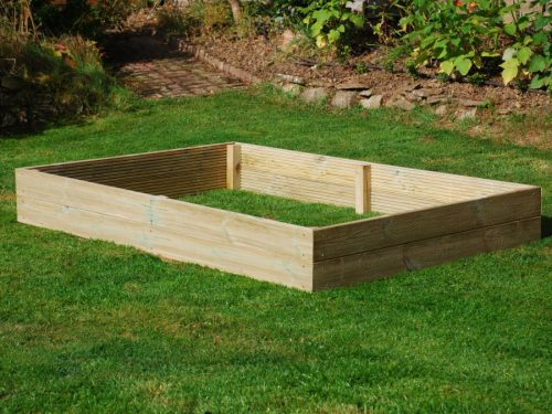 6ft x 4ft Wooden Raised Bed Kit