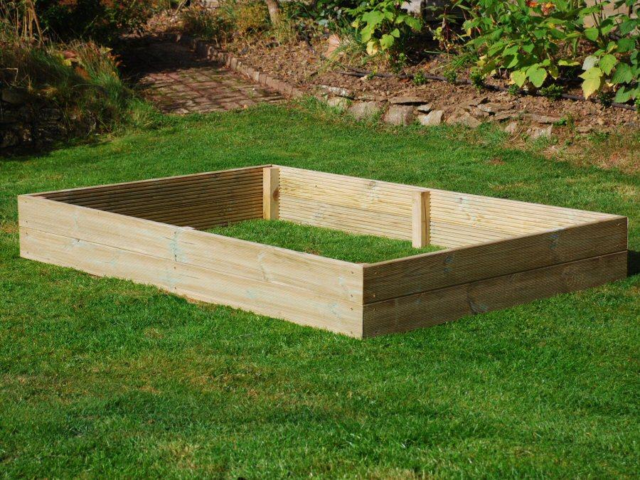 6ft x 4ft Wooden Raised Bed Kit