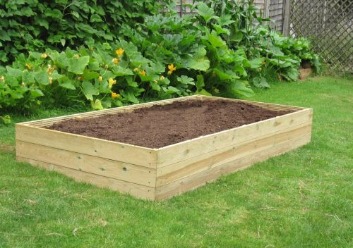 8ft x 4ft wooden raised bed