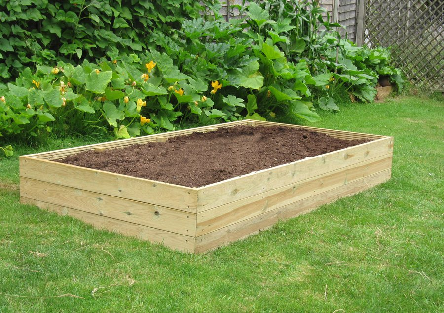 8ft X 4ft Wooden Raised Bed Kit Access Garden Products