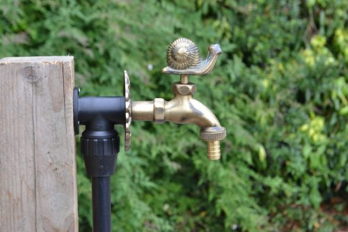 brass colour Snail ornamental garden tap