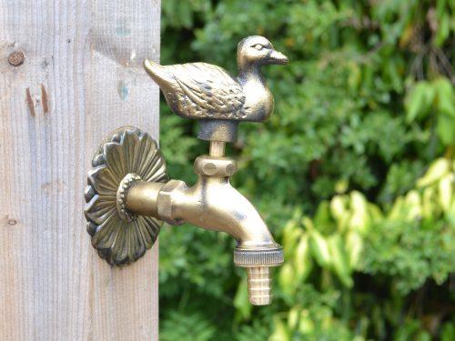 duck ornamental outdoor garden tap