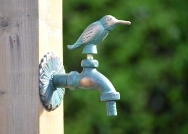 Kingfisher ornamental garden tap (green)